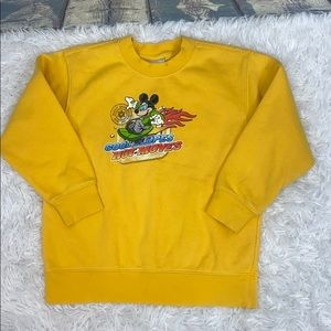 Disney store Mickey Mouse yellow sweatshirt 5/6